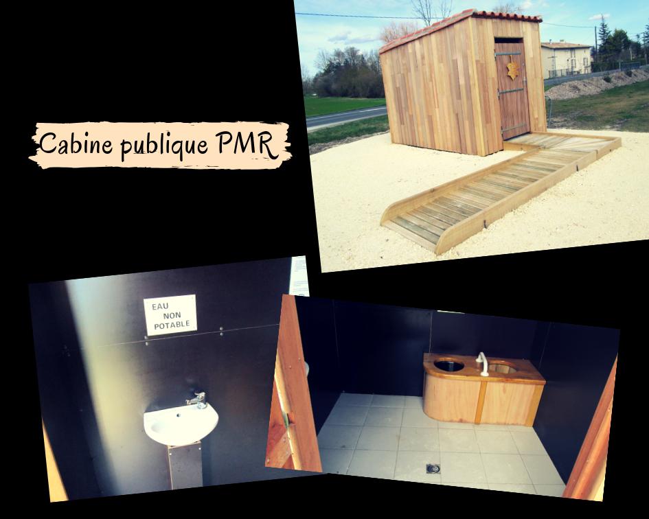 Toilettes sèches publiques adaptées PMR